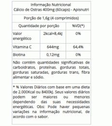 Cálcio de Ostras 400mg (60caps)