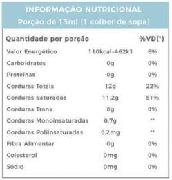 ÓLEO DE COCO EXTRA VIRGEM (200ML) - POWER 1ONE-TABELA